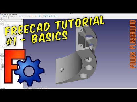FreeCAD 3D Modeling Tutorial 1: The Basics