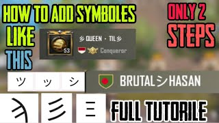 7 minutes, 59 seconds) How To Add Symbols In Pubg Mobile Name Video