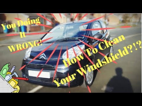 How to clean your windscreen and more!