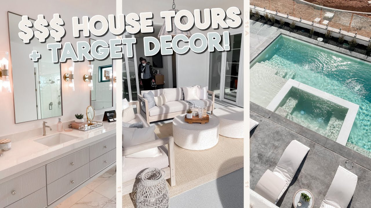 touring million dollar homes + new target decor and organizing!