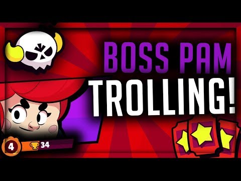 Boss Pam Low Level Trolling! - Brawl Stars - Boss Fight Pam Gameplay at 34 Trophies!