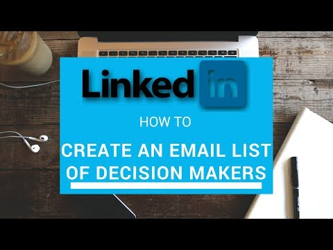 How to get a Free Email List of decision makers