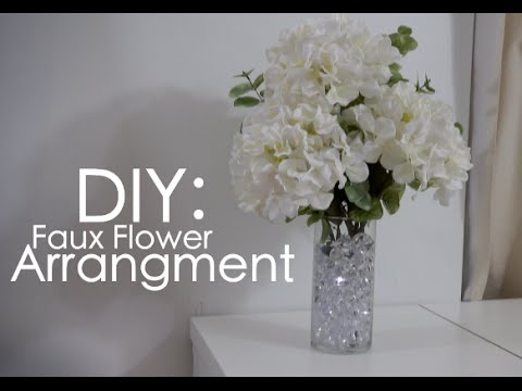 DIY fake flower arrangment