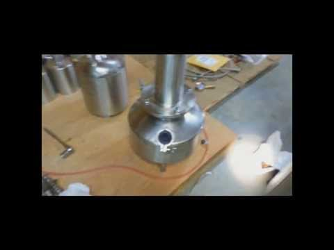 Let it Rain TE3000 tamisium recovery site glass view of boiling Butane Solvent