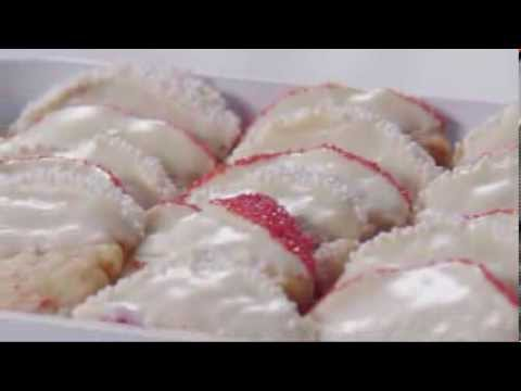 Cherry Shortbread Cookies for Valentine's Day