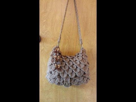 CROCHET How to #Crochet ( Crocodile stitch Handbag) Purse #TUTORIAL #90 supersaver