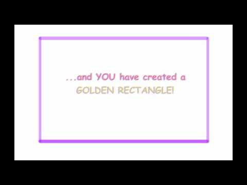 How to make a Golden Rectangle and Golden Spiral