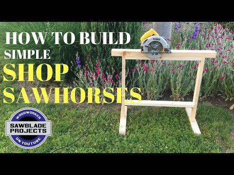 How to make EASY SHOP SAWHORSES