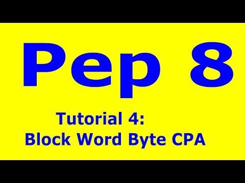 Pep8 4 Tutorial 4 Using Block Word Cpa Byte