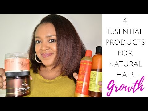 4 ESSENTIAL PRODUCTS FOR MAXIMUM NATURAL HAIR GROWTH | FOR NEW NATURALS | THE CURLY CLOSET