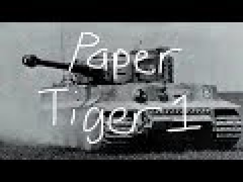 Paper tiger tank build part 2:Turret,suspension and gun