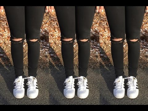 DIY Black Ripped Jeans | Isabella Notartomaso
