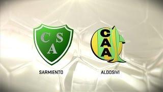 Fútbol en vivo. Sarmiento vs. Aldosivi. Fecha 14. Torneo de Primera División 2016/2017. FPT