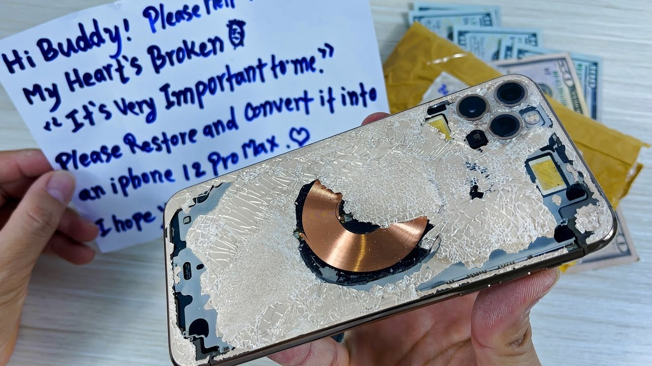 How to turn iPhone 11 Pro Max Cracked into DIY iPhone 12 Pro Max, Destroyed Phone Restoration