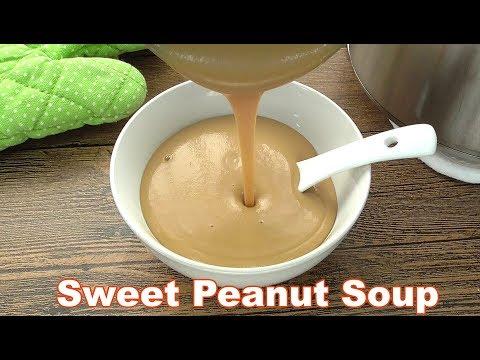 Peanut Soup Dessert - Sweet and Creamy | MyKitchen101en