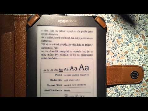 Amazon Kindle change the font-size