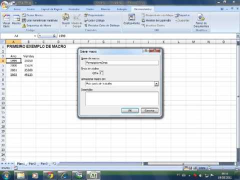 Macros e VBA no Excel 2007 - Básico + Intermediário - Aula 02: Criando Uma Macro