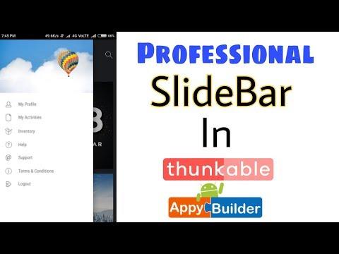 Professional Sidebar In Thunkable App   Appybuilder   Makeroid