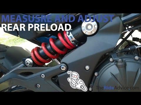How to Measure and Adjust Rear Preload - Adjust Motorcycle Suspension