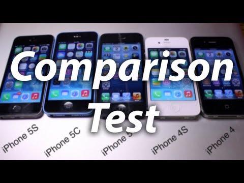 Speed & Benchmark Test: iPhone 5S vs 5C vs 5 vs 4S vs 4 - Side by Side Comparison