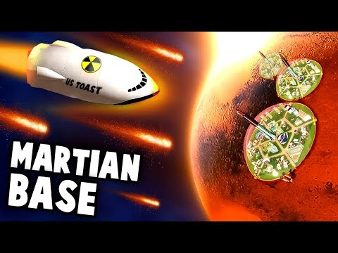 METEORS and SECRET Mars Base -  Toast Empire to Space! (Survivng Mars Gameplay Part 1 - Space Base)