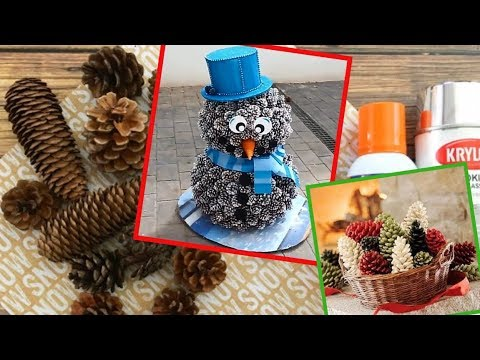 DIY Christmas Pine Cone Crafts