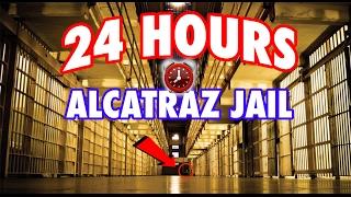 (GHOSTS) 24 HOUR OVERNIGHT in ALCATRAZ MOB OF THE DEAD PRISON | OVERNIGHT CHALLENGE in ALCATRAZ JAIL