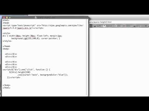 JS 4U 105: The JQuery height() Function, Part 2