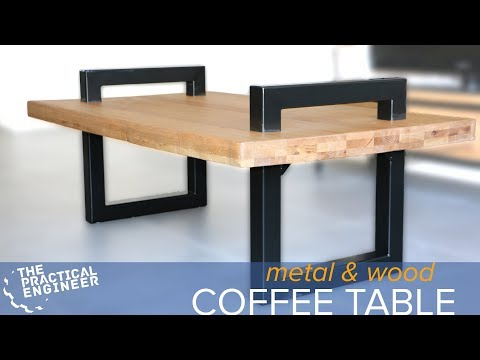 How to make a metal and wood coffee table