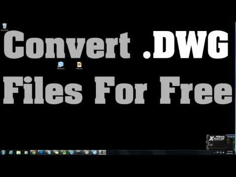 How to convert .DWG files to .JPG / .PNG files TUTORIAL