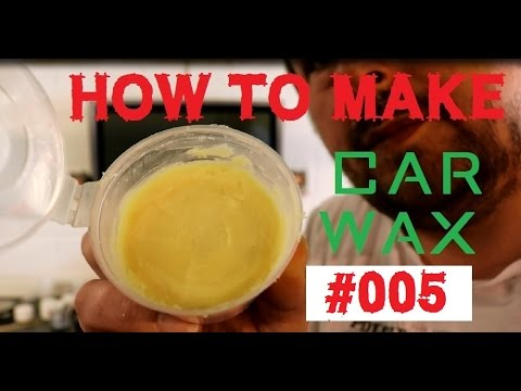 homebrew car wax - how to make a car wax Part 5