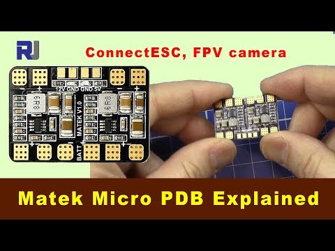 Matek Micro PDB power distribution board connection 5v, 12v
