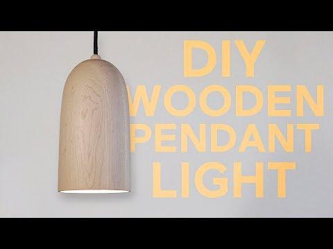 Wooden Pendant Light | Woodturning | Modern Builds