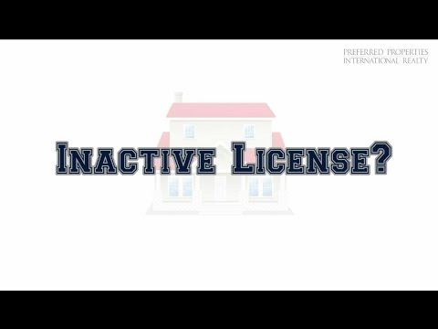 Inactive Real Estate License?