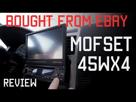 Review MOFSET45WX4 7 inch HD 1 DIN In Dash Car DVD Player Touch Screen Radio Stereo Bluetooth
