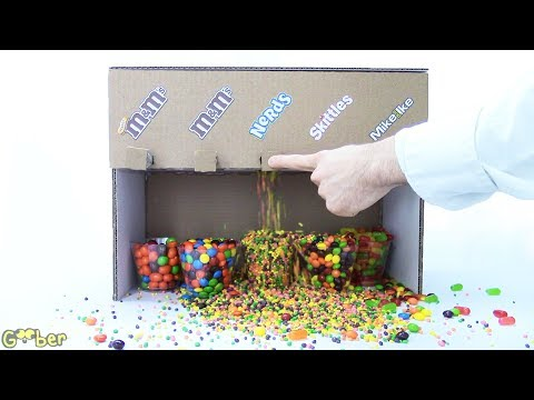 How To Make A Candy Machine Made With Cardboard- 5 Candies! Make It At Home