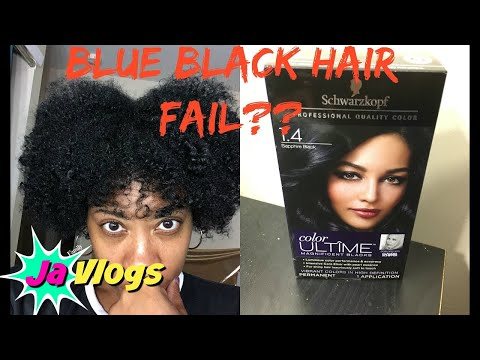SCHWARZKOPF SAPPHIRE BLACK HAIR DYE + NATURAL HAIR FLAT TWIST OUT | Natural Hair Tutorials | JaVlogs