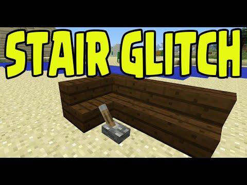 Minecraft PS3, PS4, Xbox, Wii U - STAIR CORNER BUTTON GLITCH