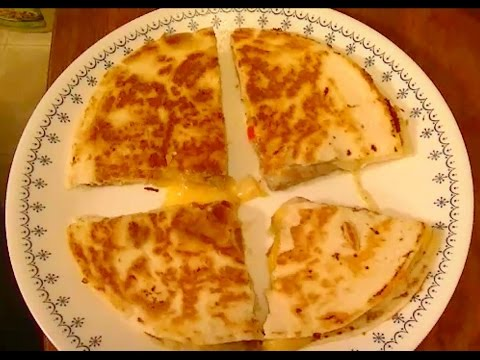 Basic Recipe for Steak & Chicken Quesadilla with Sauteed  Peppers & Onions
