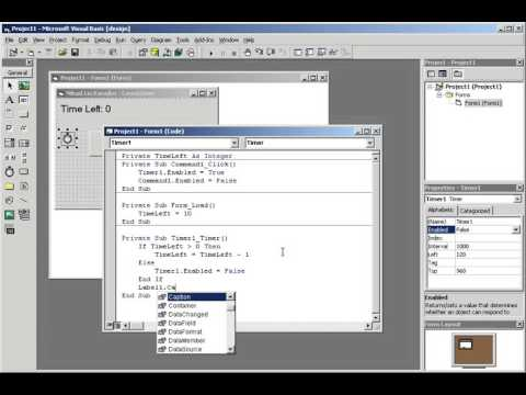 Visual Basic 6.0 Tutorial: Countdown