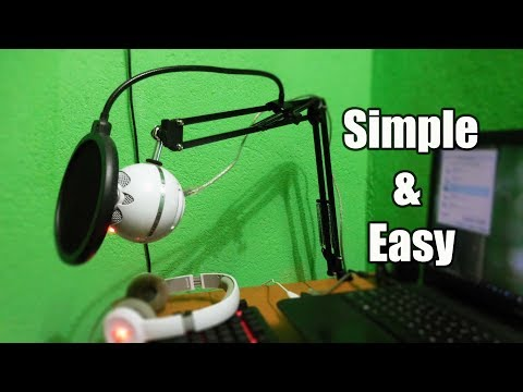 Setup Boom Arm Stand for Microphone | Budget Microphone Stand