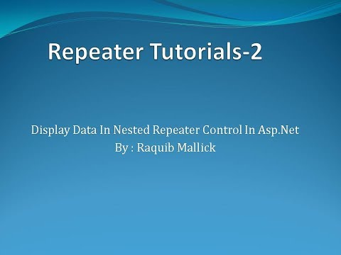Bind Data In Nested Repeater In Asp Net