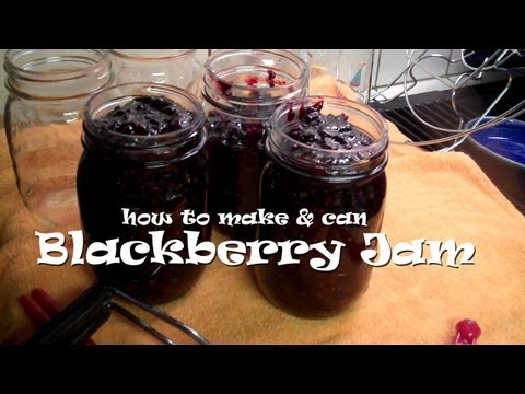 How to Make & Can BLACKBERRY JAM (without pectin)