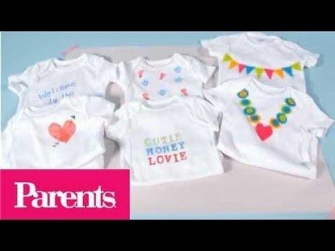 Baby Shower Idea -- Onesie Decorating Station | Parents