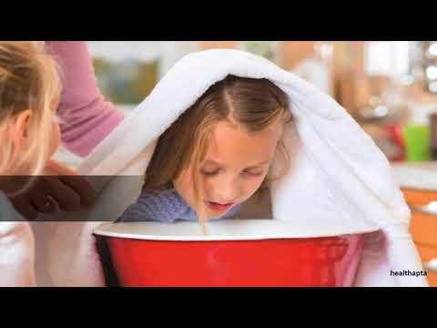 Steam inhalation to get rid of blocked nose of your child