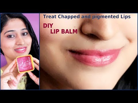 DIY LIP BALM at home for Chapped and pigmented lips