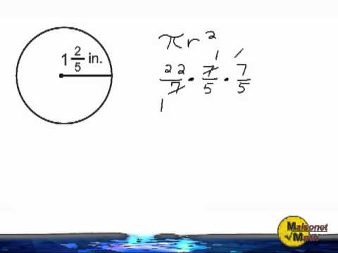 Using 22/7 For Pi When Finding The Area Of A Circle
