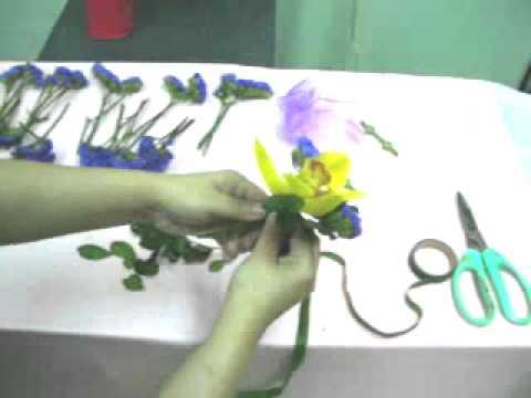 Cymbidium flower corsage making _2