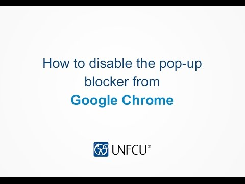 Google Chrome: Disabling the Pop-Up Blocker