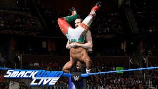 Xavier Woods vs. Aiden English - U.S. Title Tournament First Round: SmackDown LIVE, Jan. 2, 2018